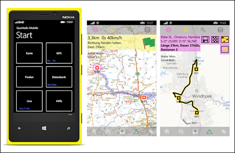 EasyROUTES Mobile für Windows Phone