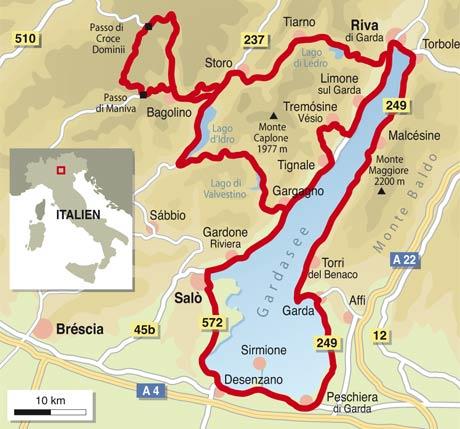 Karte Italien Gardasee.Motorradtouren Gardasee Karte My Blog