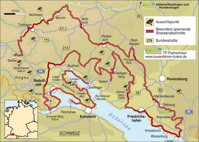 Traumstra en bodensee land info karte tourenfahrer online for Bodensee karte