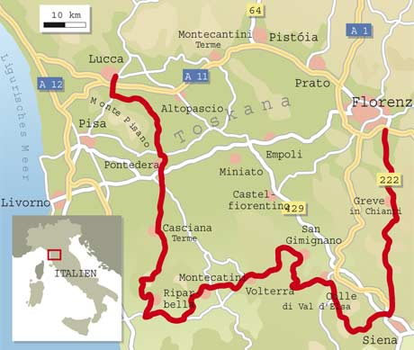 Toskana Karte Italien.Italien Spezial Toskana Info Karte Tourenfahrer Online