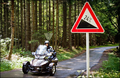 CanAm Spyder Roadster on Tour