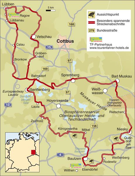 Lausitz Karte.Traumstrassen Lausitz Info Karte Tourenfahrer Online