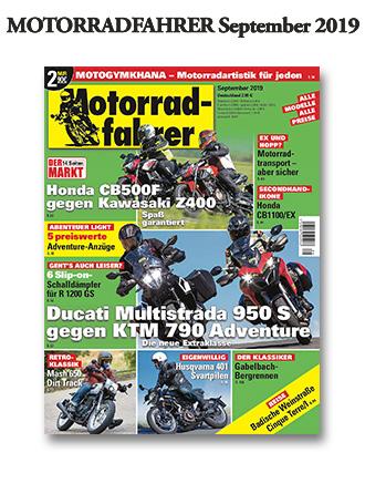 »Motorradfahrer« September 2019