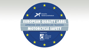 Gütesiegel für Fahrertraining | European Quality Label Motorcycle Safety