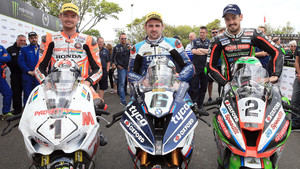 Isle of Man Tourist Trophy 2018: Conor Cummins, Michael Dunlop und James Hillier