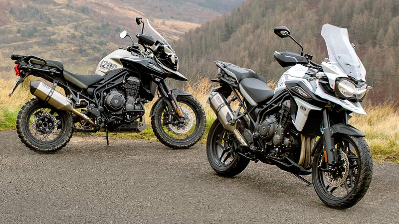 Triumph Tiger Desert Edition und Alpine Edition