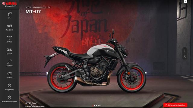 Zubehörpakte für Yamaha MT-07