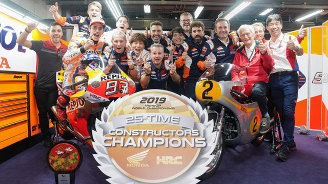Honda gewinnt Konstrukteurstitel im MotoGP 2019