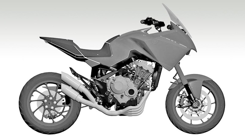 Honda Vierzylinder Adventure Bike