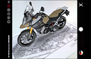 Suzuki DL 1000 V-Strom 1000 Augmented Reality App