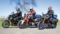 Vergleich: BMW F 900 R / Kawasaki Z900 /  Yamaha MT-09 SP