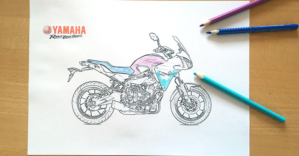 Motorrad Ausmalvorlagen Von Yamaha