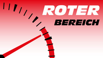 Motorrad-Glosse Roter Bereich