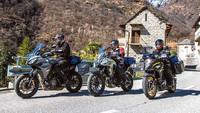 Honda CB 500 X, Suzuki V-Strom 650 XT und Yamaha Tracer 700 GT mit 48 PS
