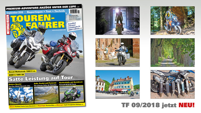 TOURENFAHRER September 2018 am Kiosk