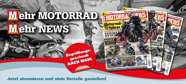 MOTORRAD NEWS-Abo – Jetzt bestellen und viele Vorteile genießen!