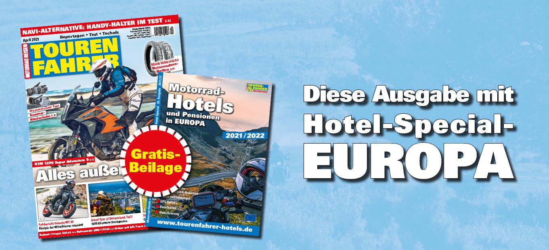 TOURENFAHRER plus Hotel-Special Europa 2021/2022