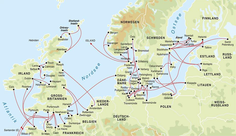 norwegen bergen landkarte