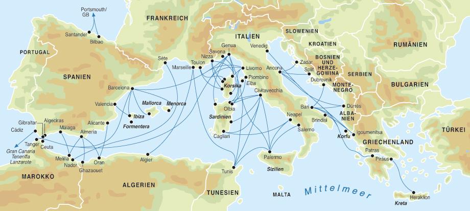 Mittelmeer Karte Europa.Fahren Mittelmeer Karte Kleve Landkarte