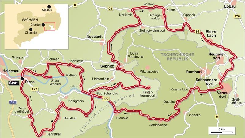 elbsandsteingebirge karte deutschland Motorradtour kompakt – Elbsandsteingebirge | Info | Tourenfahrer