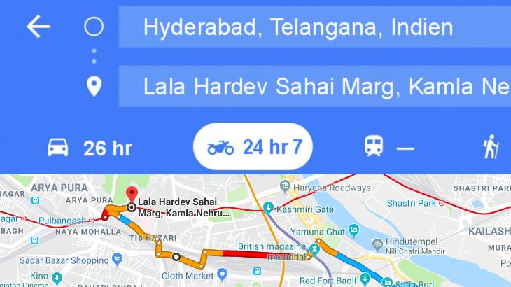 Google Maps Routenplanungsoption fürs Motorrad | Tourenfahrer