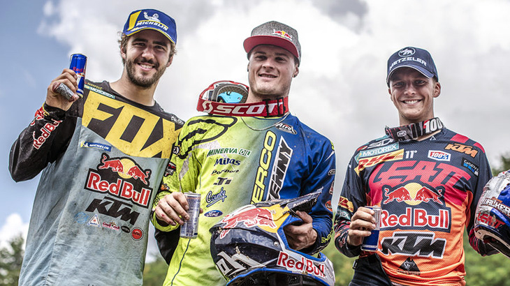 Manuel Lettenbichler, Wade Young und Jonathan Walker Red Bull Romaniacs 2018