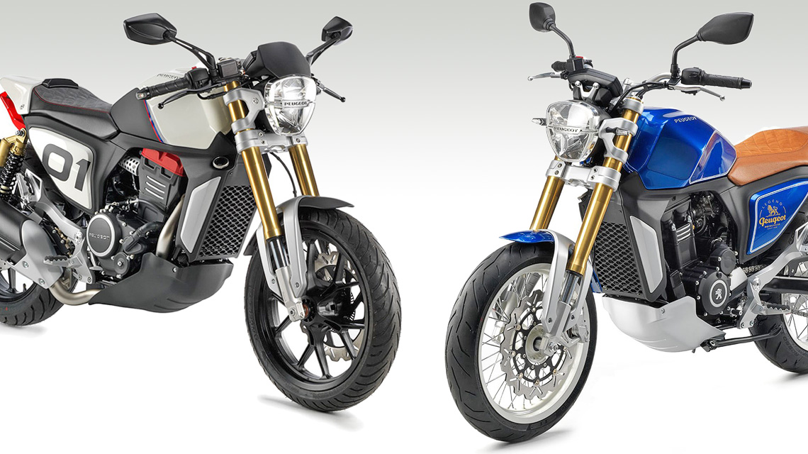 Peugeot P2X Cafe Racer und P2X Roadster