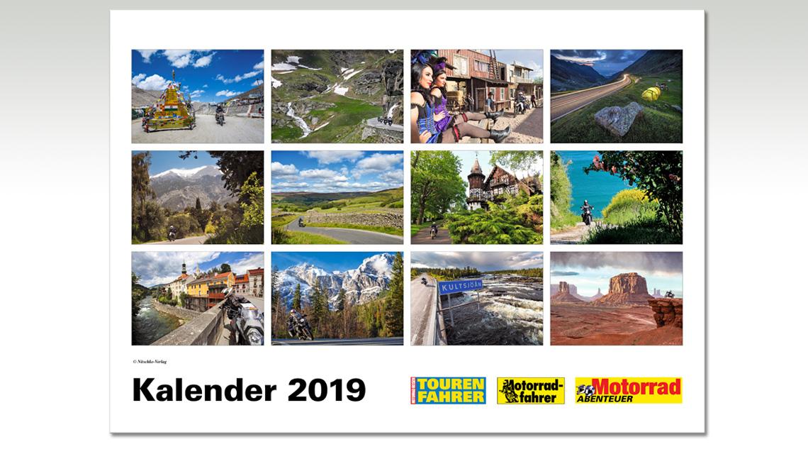 Tourenfahrer Motorrad Reise Kalender