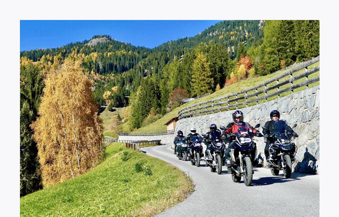 Herbsttouren mit BMW-Motorrad Testride
