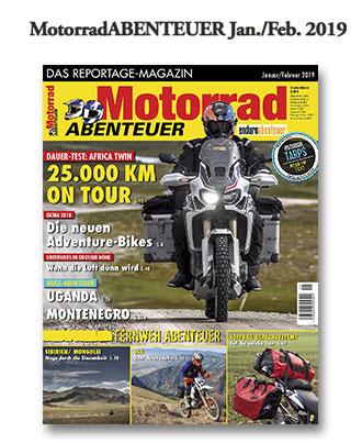 MotorradABENTEUER Ausgabe Januar/Februar 2019