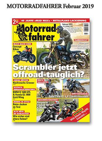 »Motorradfahrer« Februar 2019