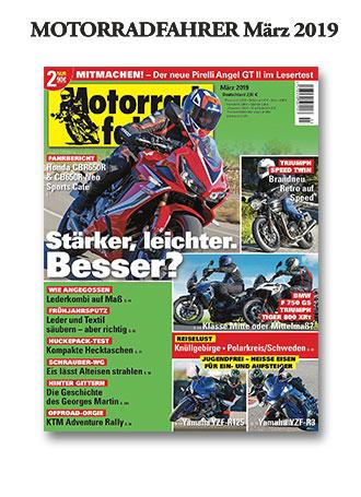 »Motorradfahrer« März 2019