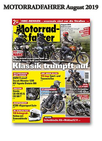 »Motorradfahrer« August 2019