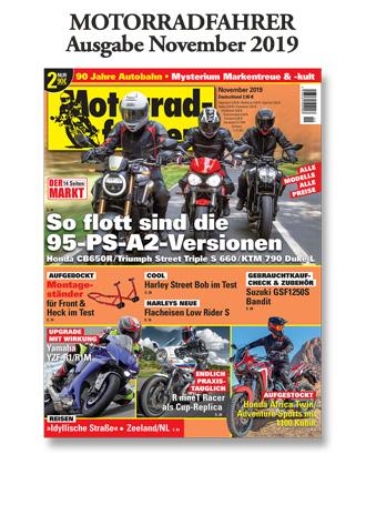 »Motorradfahrer« Ausgabe November 2019