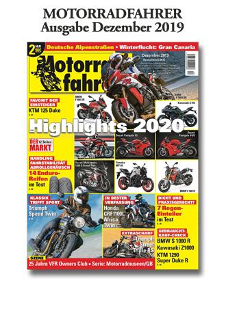 »Motorradfahrer« Dezember 2019