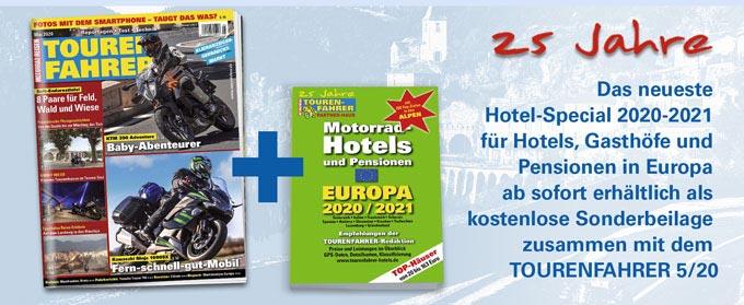 TOURENFAHRER April 2020 mit Hotel-Special Europa