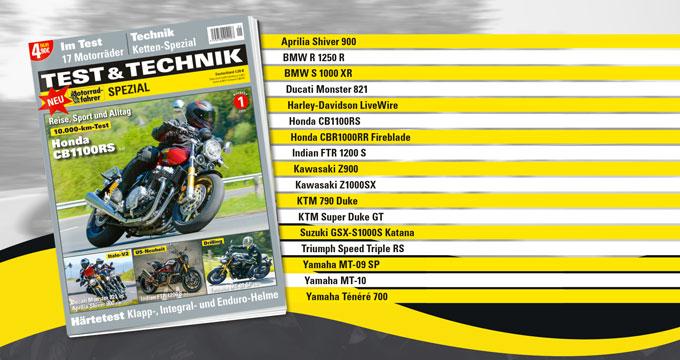 Anzeige Motorradfahrer-Spezial TEST und TECHNIK